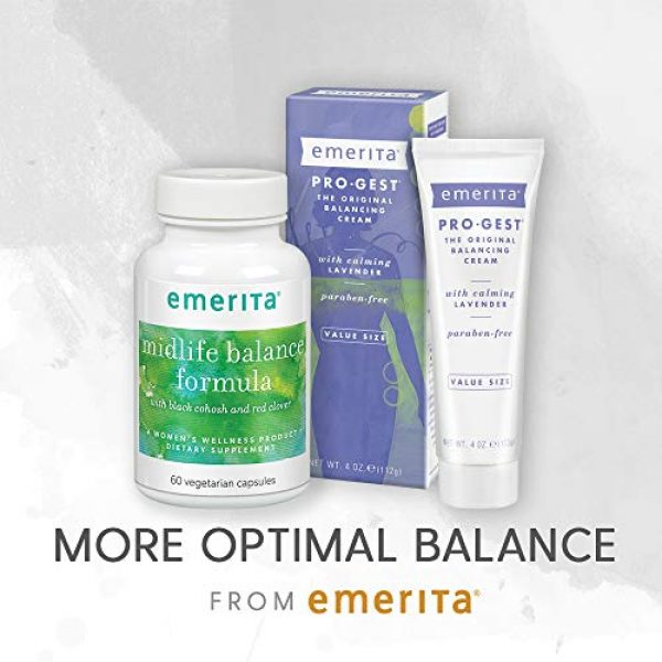 Emerita Calcium Supplement 6 Emerita® DIM Formula with Calcium D-Glucarate   Women Health & Dietary Supplement   Optimal Balance Nutritive Support   60 Soy-Free Vegetarian Caps