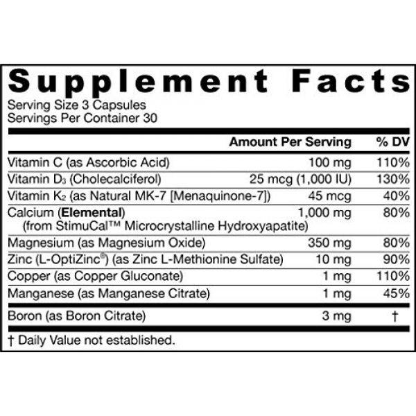 Jarrow Formulas Calcium Supplement 2 Jarrow Formulas Bone-Up-Three Per Day Caps, Promotes Bone Density, 90 Count
