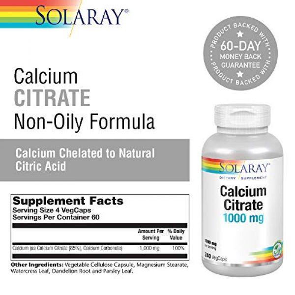 Solaray Calcium Supplement 2 Solaray Calcium Citrate Complex | 1000 mg | 240 Capsules