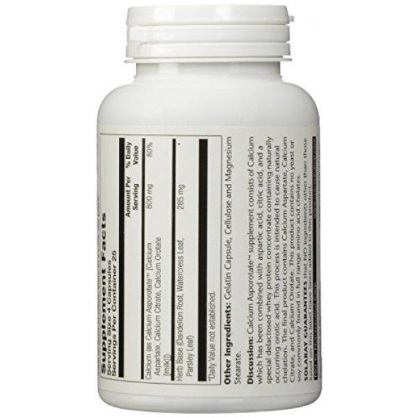 Solaray Calcium Supplement 3 Solaray Calcium Asporotate, Capsule (Btl-Plastic) 800mg   100ct