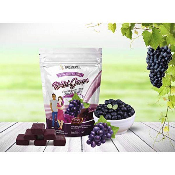 BariatricPal Calcium Supplement 4 BariatricPal Sugar-Free Calcium Citrate Soft Chews 500mg with Probiotics - Wild Grape (1-Pack (90ct))