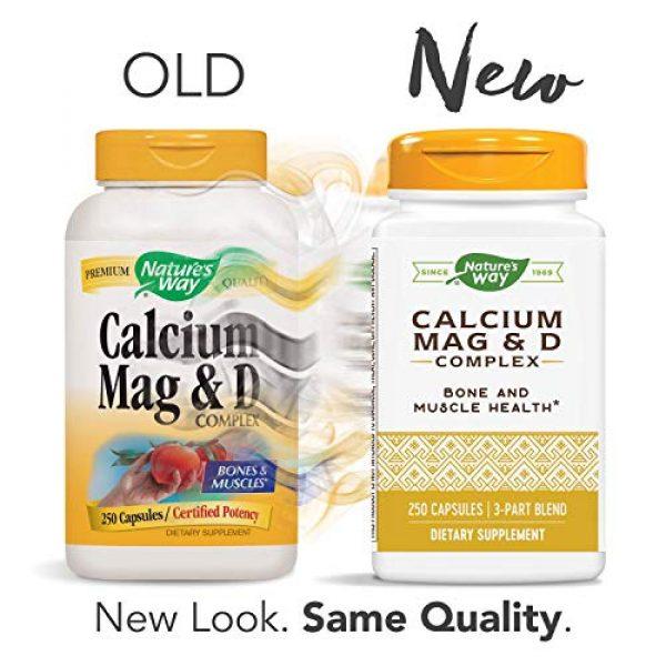 Nature's Way Calcium Supplement 2 Nature's Way Calcium, Magnesium and Vitamin D, 250 Capsules
