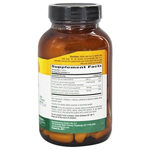 Country Life Calcium Supplement 3 Country Life - Target-Mins Calcium Magnesium Complex with Vitamin D3-90 Tablets