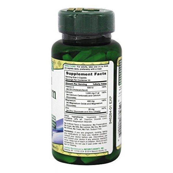 Nature's Bounty Calcium Supplement 2 Nature's Bounty Calcium-magnesium-zinc Caplets, 200 Caplets (2 X 100 Count Bottles)