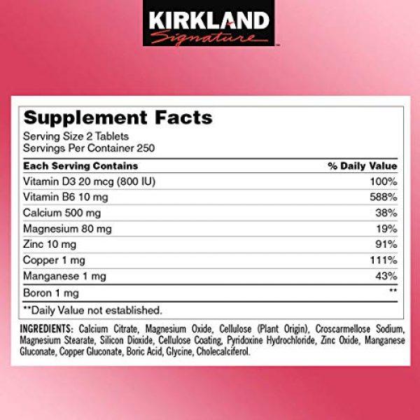 Kirkland Signature Calcium Supplement 2 Kirkland Signature Expect More Calcium Citrate Magnesium and Zinc, 500 Tablets