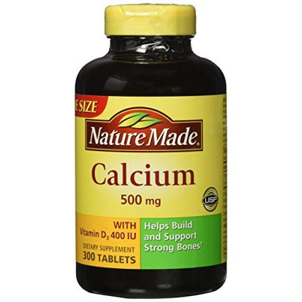 Nature Made Calcium Supplement 1 Nature Made Calcium 500 mg + Vitamin D3 Tabs, 300 ct