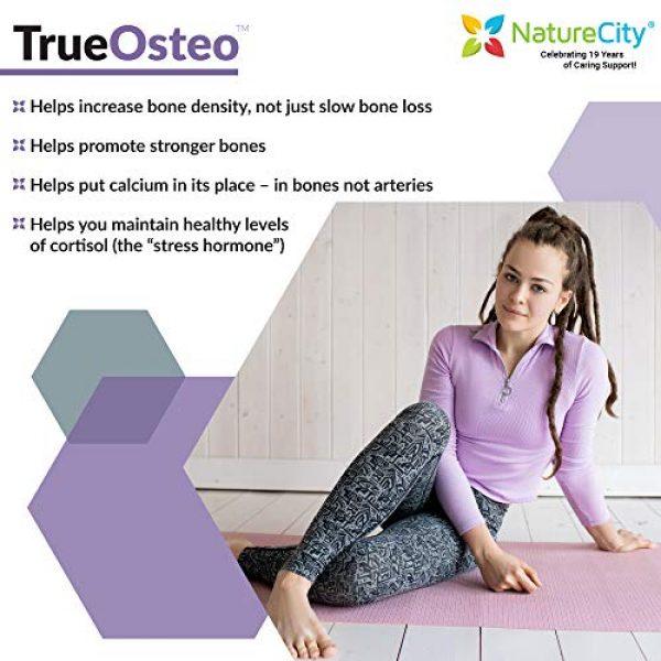 NatureCity Calcium Supplement 6 True-Osteo Plant Calcium Bone Support Supplement w AlgaeCal Vitamin K2 Magnesium (3)