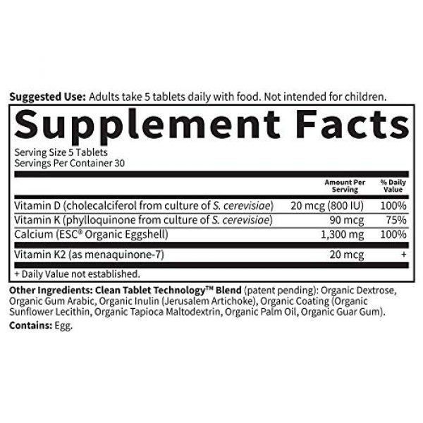 Garden of Life Calcium Supplement 6 Garden of Life Dr. Formulated Stronger Bones, Organic Calcium Supplement with Vitamin D & Vitamin K for Bone Health, Bone Strength, Osteoporosis Supplements for Women & Men, 150 Vegetarian Tablets