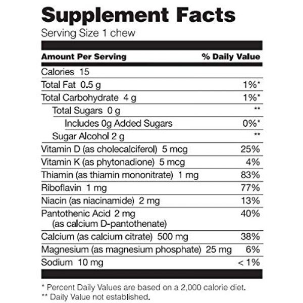 Bariatric Fusion Calcium Supplement 2 Bariatric Fusion 500mg Calcium Citrate & Energy Soft Chew Vanilla Crme Flavor for Bariatric Surgery Patients Including Gastric Bypass and Sleeve Gastrectomy, 60 Count, Sugar Free, Made in The USA