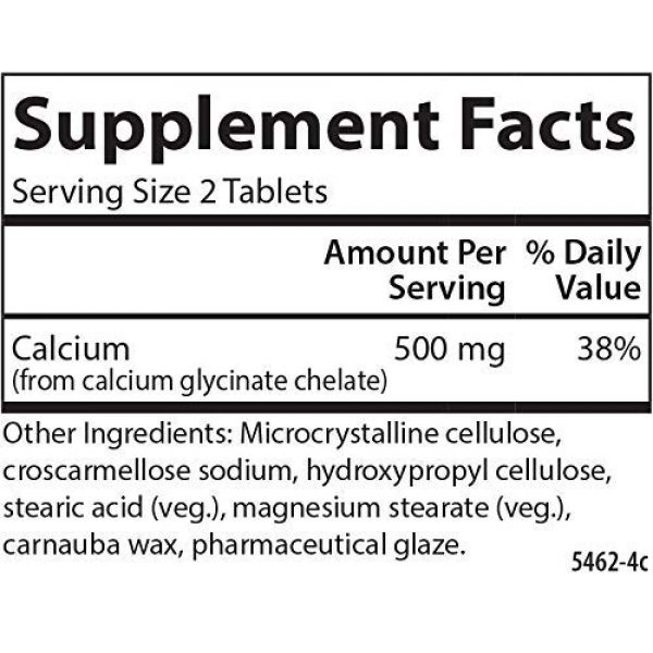 Carlson Calcium Supplement 2 Carlson - Chelated Calcium, 500 mg, Bone Health, Nerve Function & Healthy Teeth, 180 Tablets