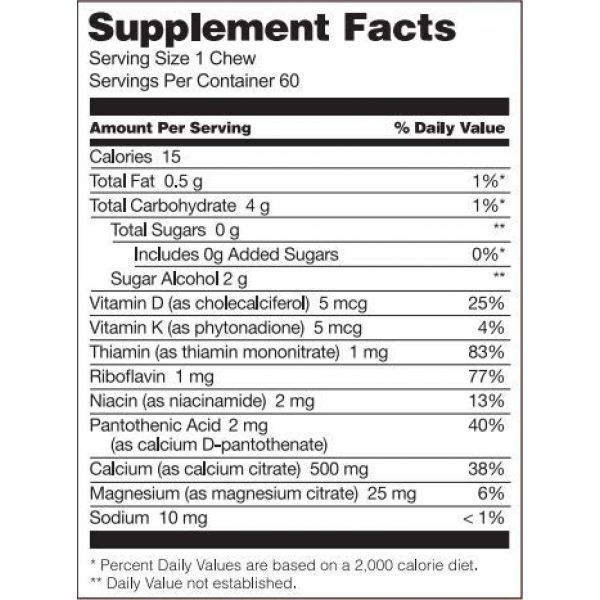 Bariatric Fusion Calcium Supplement 3 Bariatric Fusion Calcium Citrate 500mg & Energy Soft Chews Strawberry Blast Flavor for Bariatric Surgery Patients Including Gastric Bypass and Sleeve Gastrectomy, 60 count, Sugar Free, Made in The USA