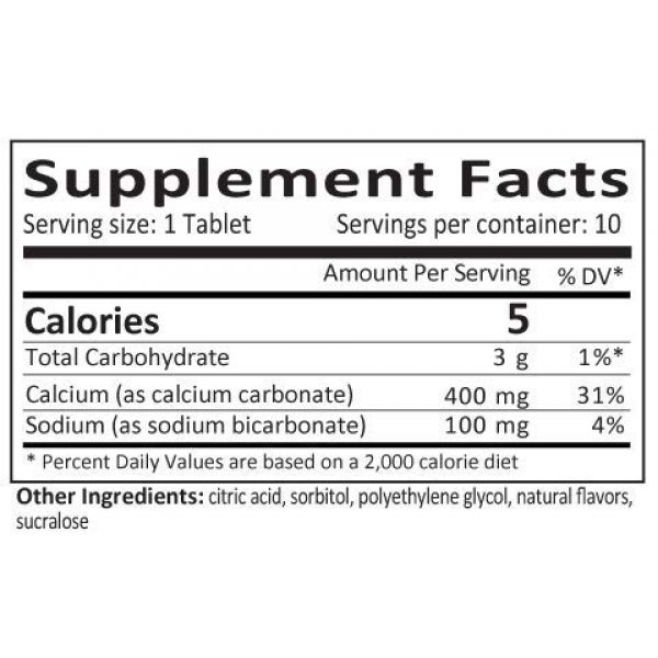 FizzBenefitz Calcium Supplement 2 FizzBenefitz Calcium Carbonate Dissolvable Supplement with Tropical Flavor - 400mg Tablets Release as Powder in Water - Perfect for People Struggling with Pill Swallowing