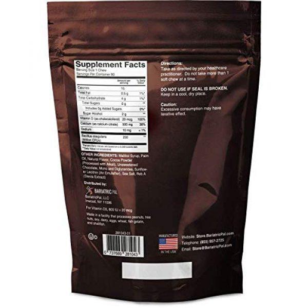 BariatricPal Calcium Supplement 2 BariatricPal Sugar-Free Calcium Citrate Soft Chews 500mg with Probiotics - Belgian Chocolate Caramel (1-Pack (90 Count))