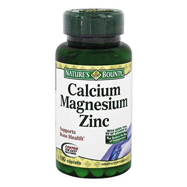 Nature's Bounty Calcium Supplement 1 Nature's Bounty Calcium-magnesium-zinc Caplets, 200 Caplets (2 X 100 Count Bottles)