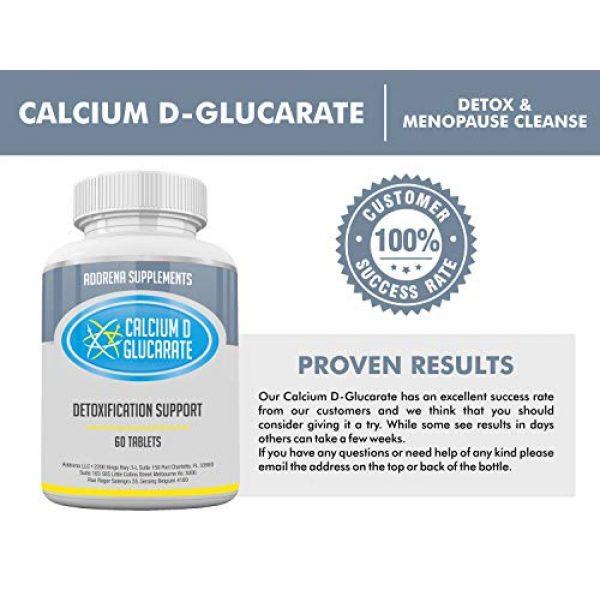 Addrena Calcium Supplement 4 Calcium D-Glucarate 500mg- CDG for Liver Detox, Cleanse, Menopause, Estrogen Management   60 Tablets Cal D Glucarate Supplements