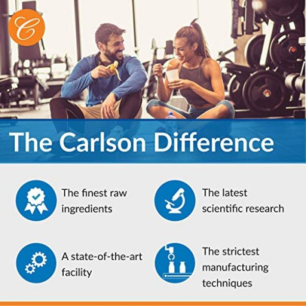 Carlson Calcium Supplement 6 Carlson - Chelated Cal-Mag, 2:1 Calcium to Magnesium Ratio, Bone Support, Muscle Function & Energy Production, 180 Tablets