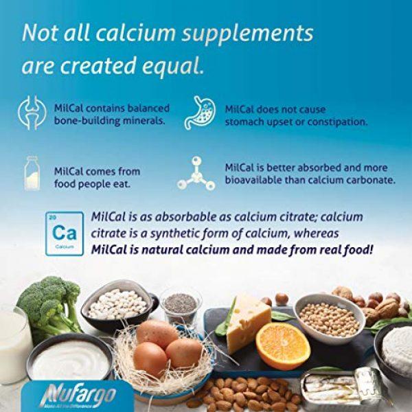 NUFARGO Calcium Supplement 2 MilCal Calcium + Magnesium Supplement   Sugar-Free Chewables for Women, Men, and Kids   60 Tablets by NuFargo Global Inc.