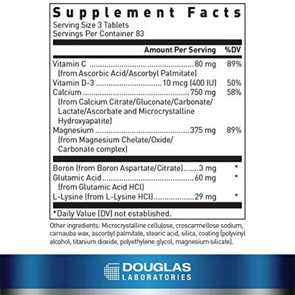 Douglas Labs Calcium Supplement 2 Douglas Laboratories - Cal-6 + Mg. - Six-Source Calcium Complex with Magnesium to Support Healthy Bones and Teeth - 250 Tablets