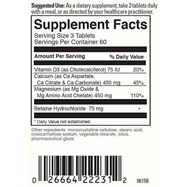DaVinci Laboratories of Vermont Calcium Supplement 3 Davinci Labs- Multi-source Cal Mag 180 Tabs