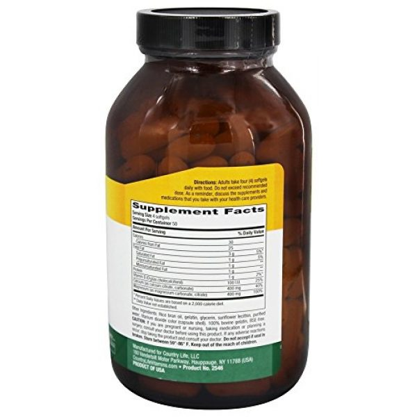 Country Life Calcium Supplement 2 Country Life Maxi-Sorb Calcium Magnesium Citrate w/ Vitamin D - 200 Softgels - Formulated to Maximize Calcium Absorption