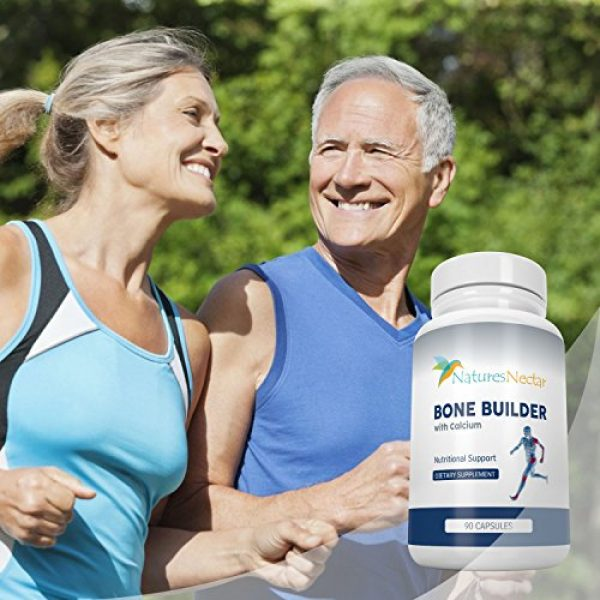 Nature's Nectar Calcium Supplement 5 Bone Builder Joint Supplements for Women - Increased Bone Health Plus New Growth - Fights Osteoporosis - Bone Strength Formula - Organic Bone Care for Max Raw Absorption Boost - Feel New Life & Alive