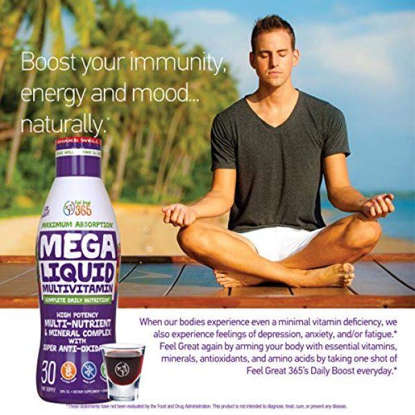 Feel Great 365 Calcium Supplement 5 Feel Great Vitamin Co. Superfood Mega Liquid Multivitamin | Natural Immune Support including Vitamins & 72 Trace Minerals, Vitamin D3, E, Glutathione, Resveratrol, Milk Thistle, Green Tea, Ginseng & More