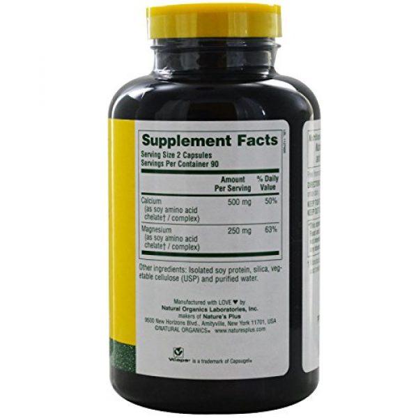 Nature's Plus Calcium Supplement 2 NaturesPlus Cal/Mag - 500 mg Calcium, 250 mg Magnesium, 180 Vegetarian Capsules - Bone Health Support Supplement, Promotes Heart Health - Gluten-Free - 90 Servings