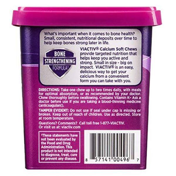 Viactiv Calcium Supplement 2 Viactiv Nutrition for Women, Calcium Plus D Soft Chews, Caramel, 60 Ea.