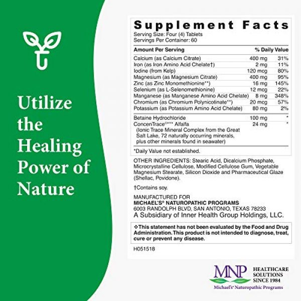 MICHAEL'S Calcium Supplement 6 Michael's Naturopathic Programs Essential Minerals - 240 Vegan Tablets - Supports Nerve Communication & Proper Functioning of Muscles - Vegetarian, Kosher - 60 Servings
