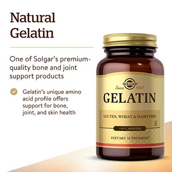 Solgar Calcium Supplement 3 Solgar Gelatin 1680 mg, 100 Capsules - Natural Gelatin - Supports Bone, Joint & Skin Health - Gluten Free, Dairy Free - 33 Servings