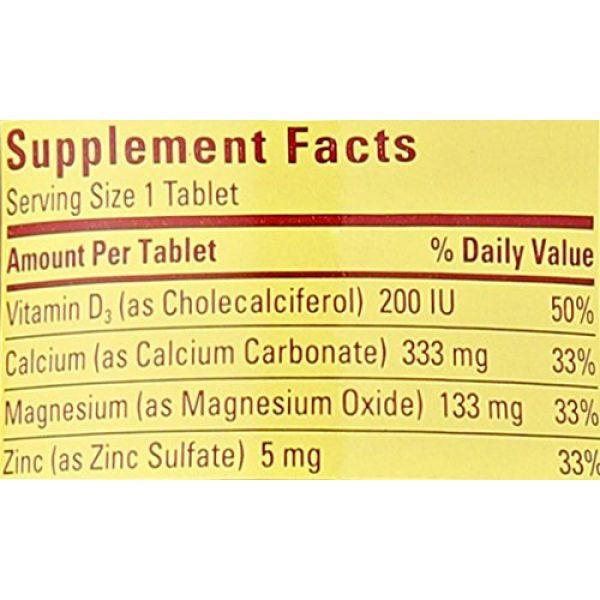 Nature Made Calcium Supplement 3 Nature Made Calcium, Magnesium & Zinc w. Vitamin D Tablets 100 Ct