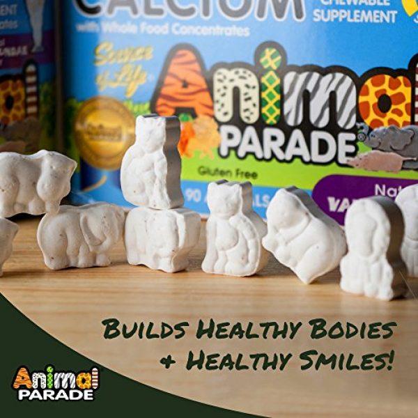 Nature's Plus Calcium Supplement 3 NaturesPlus Animal Parade Source of Life Calcium Children's Chewable Multivitamin - Natural Vanilla Sundae Flavor - 90 Chewable Tablets - Promotes Healthy Bones - Gluten-Free - 90 Servings