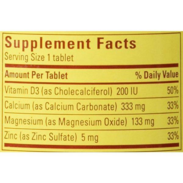 Nature Made Calcium Supplement 3 Nature Made Calcium Magnesium & Zinc Tabs, 100 ct