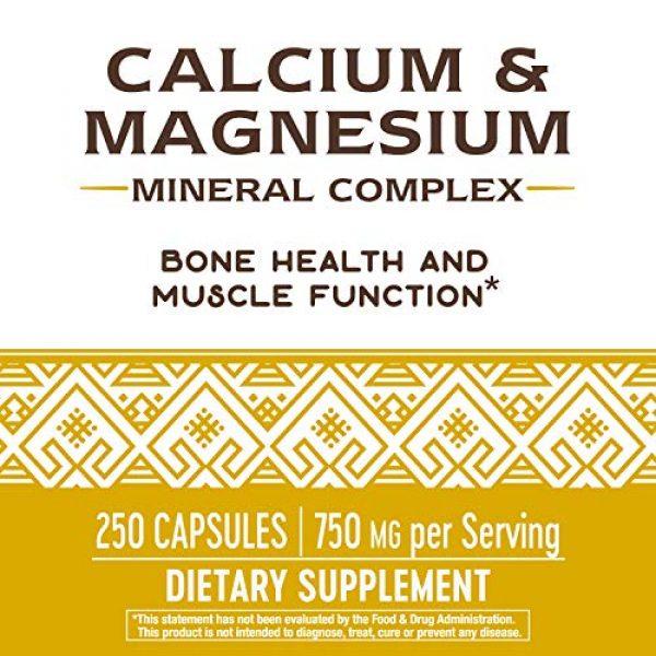 Nature's Way Calcium Supplement 4 Nature's Way Calcium & Magnesium Mineral Complex, 750 mg per serving, 250 Capsules