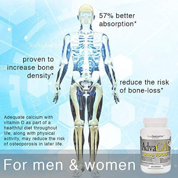Lane Innovative Calcium Supplement 5 Lane Innovative - Variety Pack: AdvaCal Ultra 1000 + Hips, Shoulders, Knees & Toes, Bone-Building Calcium, Joint Support (AdvaCal Ultra 120 Caps + Hips, Shoulders, Knees & Toes 60 Veggie Caps)