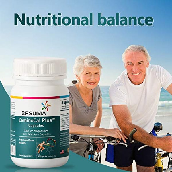 BFSUMA Calcium Supplement 2 ZaminoCal Plus Calcium Magnesium Zinc Selenium Capsules-Calcium Supplement-60 Tablets