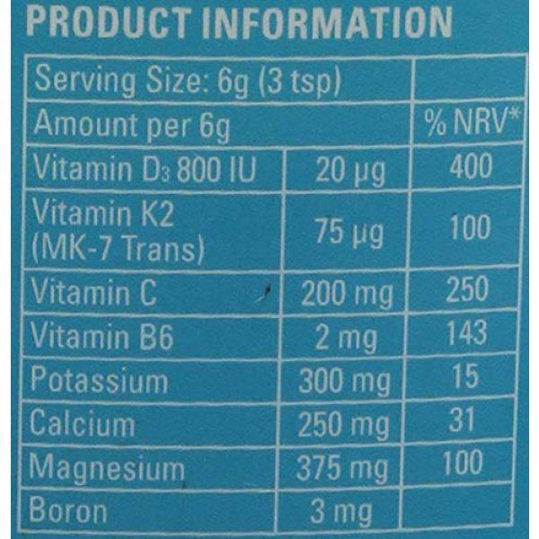 Mag365 Calcium Supplement 5 Vegan Magnesium Powder Plus Calcium & Zinc - Promotes Bone Support - Vitamins D3 & K2 - 210g