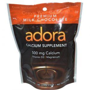 Adora Calcium Supplement 1 ADORA Calcium 500MG Milk Chocolate 30 disks