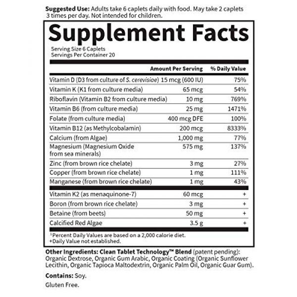 Garden of Life Calcium Supplement 4 Garden of Life Calcium Supplement - Living Calcium Advanced Bone Density Support Formula, 1,000mg Whole Food Plant Calcium Plus Vitamins D3, K1 and Magnesium for Absorption, 120 Vegetarian Caplets