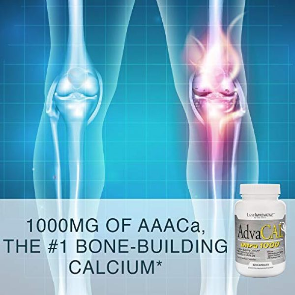 LANE LABS Calcium Supplement 5 Lane Innovative - AdvaCAL Ultra 1000, Bone-Building Calcium*, Including Vitamin D3 and Magnesium, Easy Absorption (120 Capsules, Pack of 3)