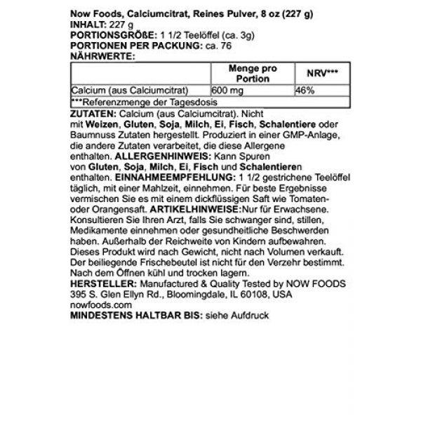 NOW Foods Calcium Supplement 2 Calcium Citrate Powder Now Foods 8 oz Powder