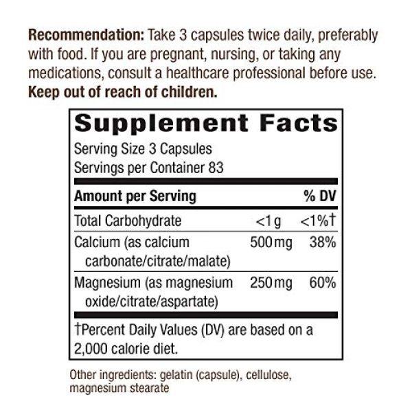 Nature's Way Calcium Supplement 5 Nature's Way Calcium & Magnesium Mineral Complex, 750 mg per serving, 250 Capsules