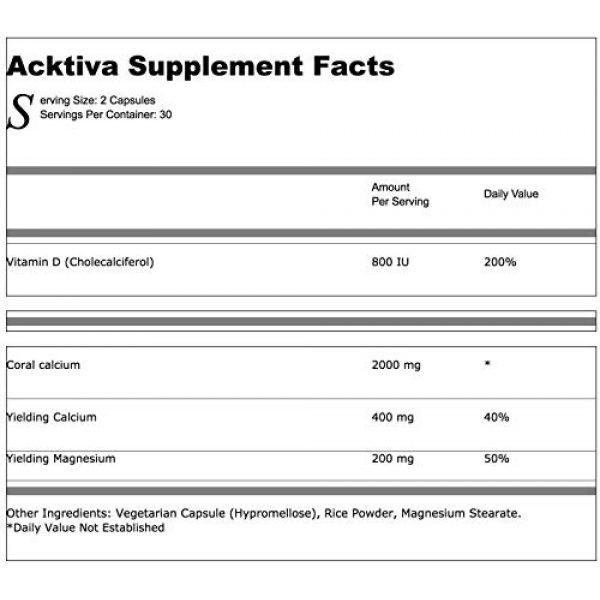 Progressive Health Calcium Supplement 6 Coral Calcium with Magnesium and Vitamin D - Acktiva Coral Calcium Supplement Can Help You Feel Great by Getting Rid of Aches and Pains