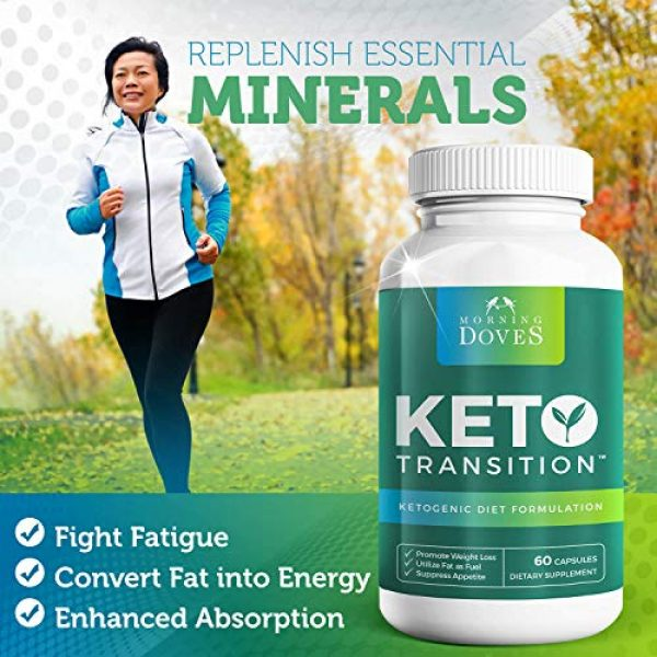 Morning Doves Calcium Supplement 4 Morning Doves Keto Pills :: KetoTransition Supplement with BHB :: cGMP Compliant Food Grade :: Exogenous Ketones Pills Optimally Formulated for Transition to Ketosis