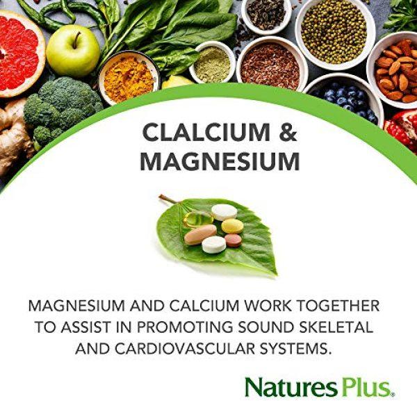 Nature's Plus Calcium Supplement 3 NaturesPlus Cal/Mag - 500 mg Calcium, 250 mg Magnesium, 180 Vegetarian Tablets - Bone Health Support Supplement, Promotes Heart Health - Gluten-Free - 180 Servings