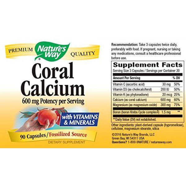 Nature's Way Calcium Supplement 2 Nature's Way Coral Calcium 600 mg w/vitamins & minerals, 90 Count