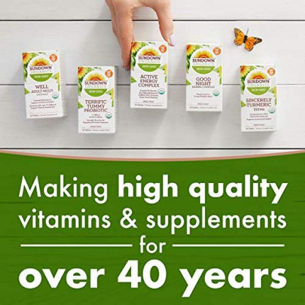 Sundown Calcium Supplement 3 Sundown Organics Strong Bones Core Complex, Plant-Based Calcium Supplement with Vitamin D3 & K2, Gluten Free, 100% Non-GMO, 30 Tablets
