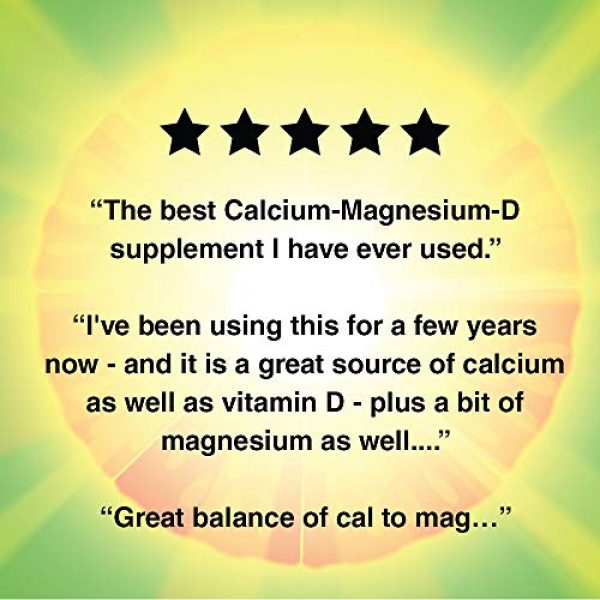 Nature's Life Calcium Supplement 5 Natures Life Super Cal Mag 1000mg of Calcium & 500mg of Magnesium with Vitamin D-2 ,250 Vegetarian Tablets