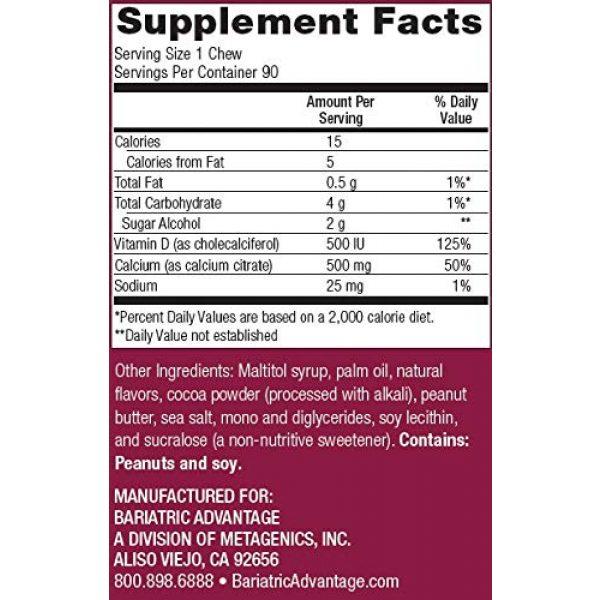 Bariatric Advantage Calcium Supplement 2 Bariatric Advantage - 500mg Calcium Citrate Chewy Bite - Peanut Butter Chocolate, 90 Count