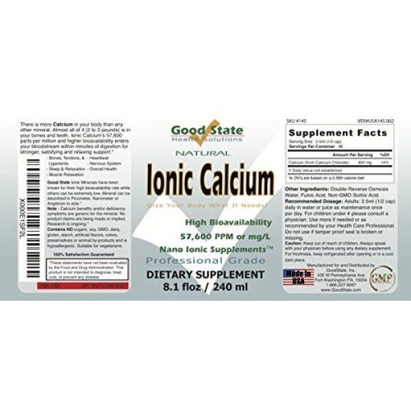 Good State Calcium Supplement 2 Good State Liquid Ionic Calcium (96 servings at 144 mg elemental, plus 2 mg fulvic acid - 8 fl oz)